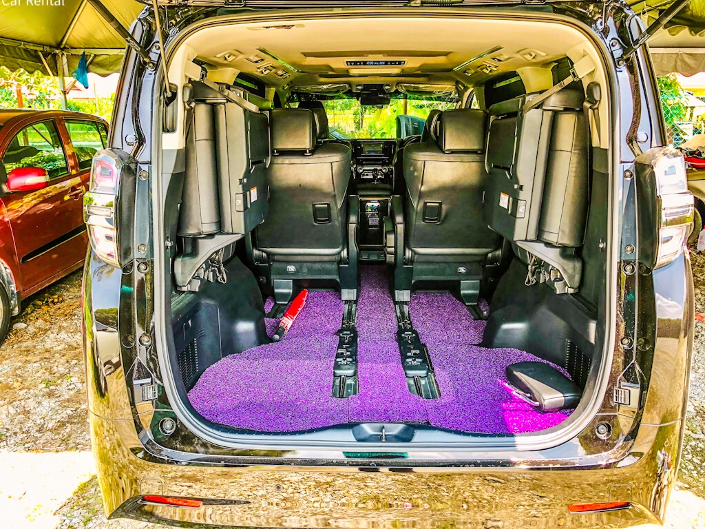 Vellfire boot luggage